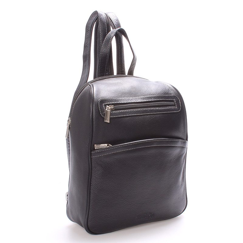 Dámský kožený batůžek černý - SendiDesign Anastasia
