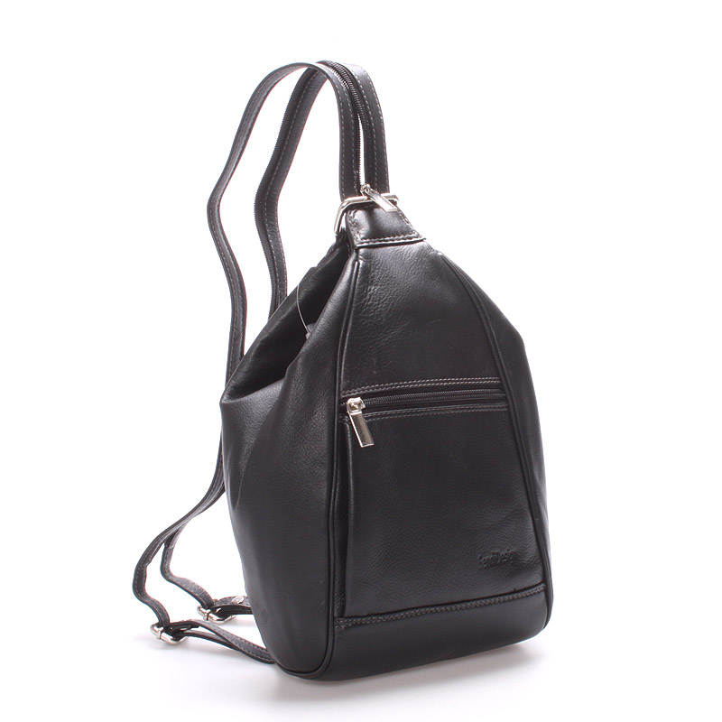 Dámský kožený batůžek černý - SendiDesign Irene