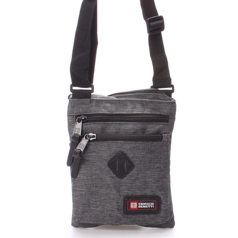 Látková taška přes rameno šedá - Enrico Benetti 4499