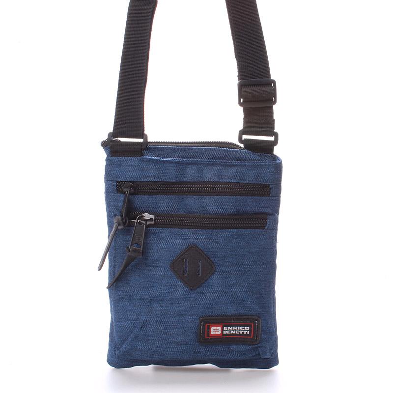 Látková taška přes rameno modrá - Enrico Benetti 4499