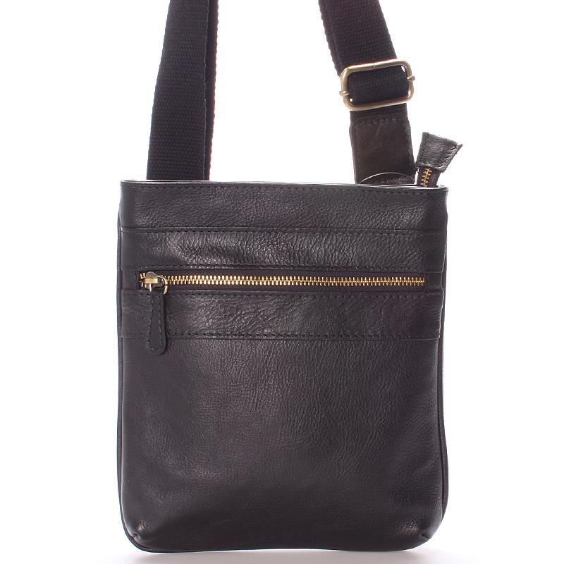 Kožená taška přes rameno černá - ItalY Heinz