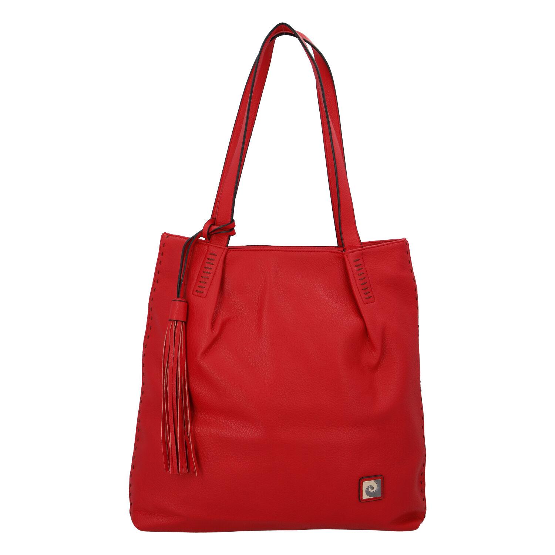 Velká dámská kabelka přes rameno červená - Pierre Cardin Elis
