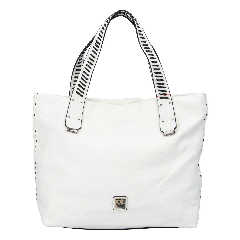 Velká dámská kabelka přes rameno bílá - Pierre Cardin Altin