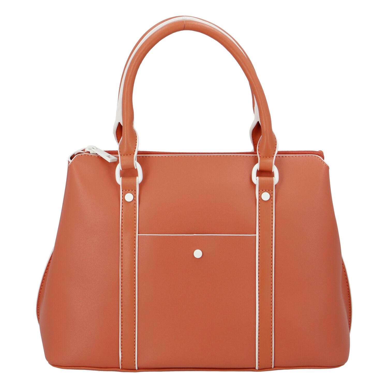 Dámská kabelka do ruky oranžová - DIANA & CO Cerendy