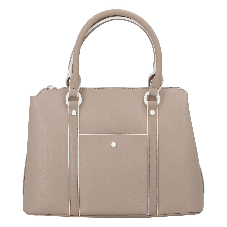 Dámská kabelka do ruky tmavě béžová - DIANA & CO Cerendy