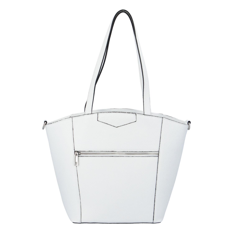 Dámská kožená kabelka přes rameno bílá - ItalY Zhoushan