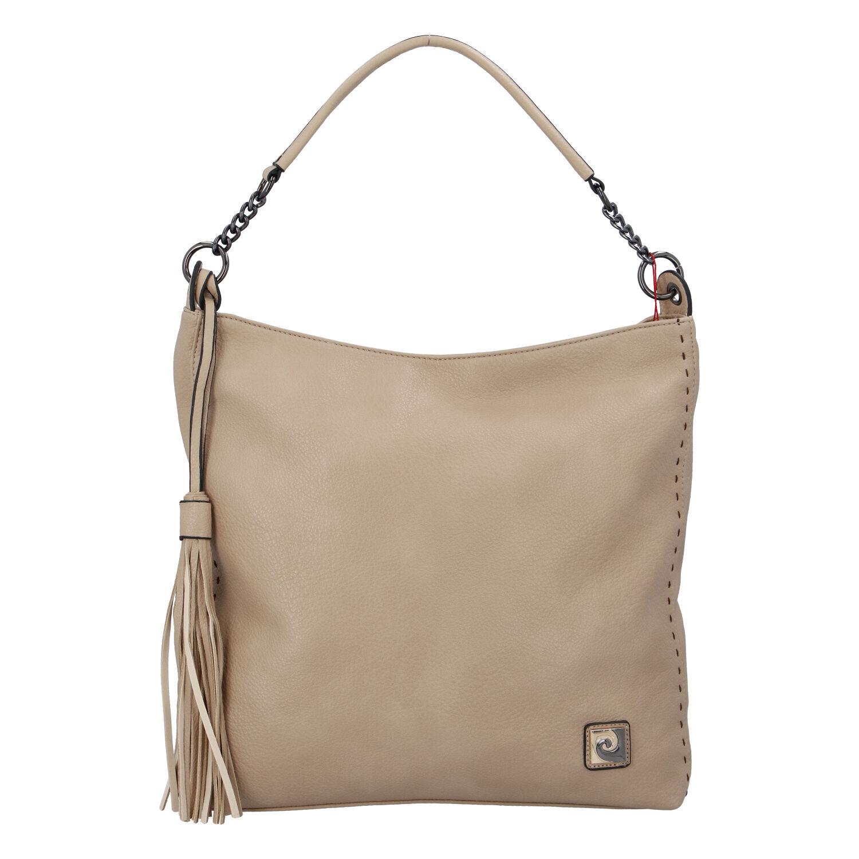 Velká dámská kabelka přes rameno béžová - Pierre Cardin Elia