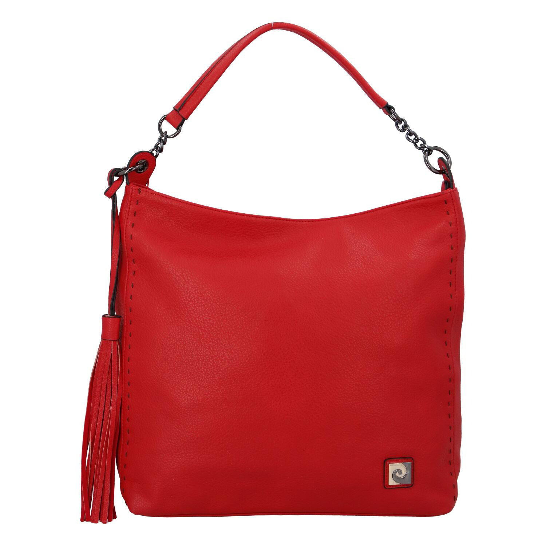 Velká dámská kabelka přes rameno červená - Pierre Cardin Elia