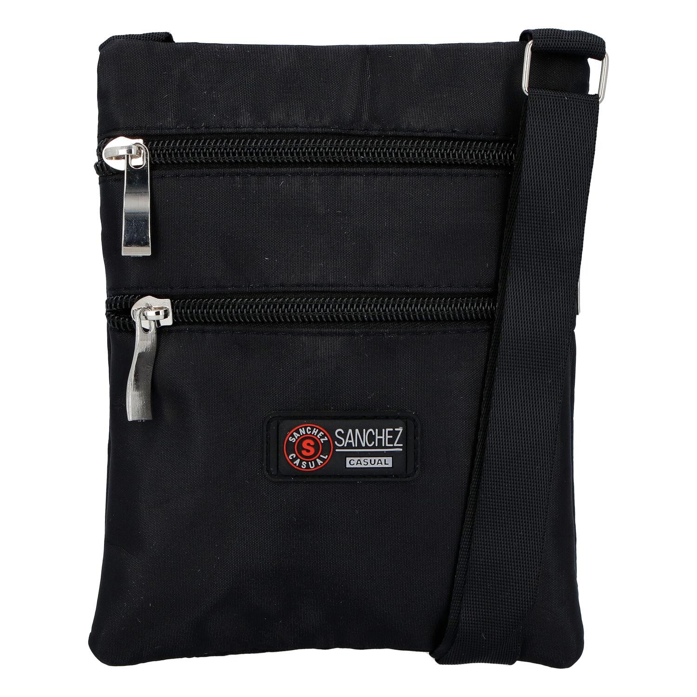 Textilní černá unisex crossbody kapsička - Sanchez F85