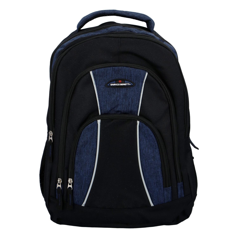 Sportovní batoh černo modrý - Enrico Benetti Schenzyn