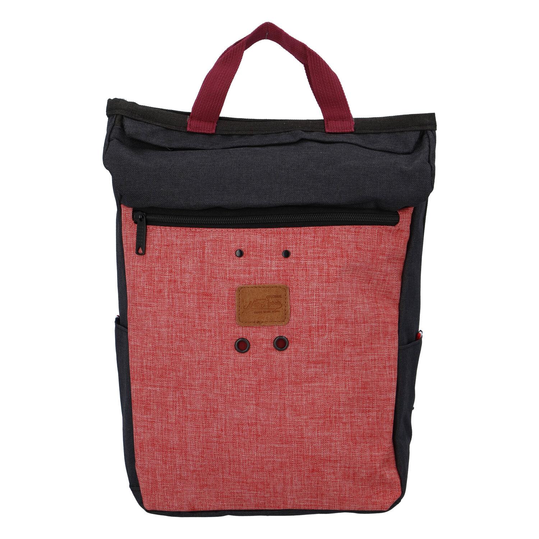 Stylový černo růžový látkový batoh - New Rebels Javan