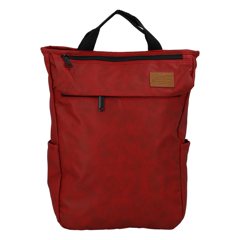 Trendy a stylový tmavě červený batoh - New Rebels Genderus Next