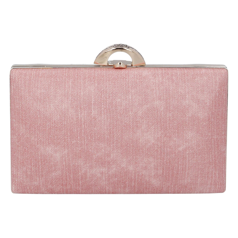 Luxusní dámské psaníčko růžové - Michelle Moon DaPirre