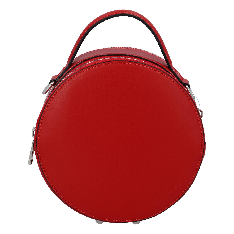 Malá červená elegantní dámská kožená kabelka - ItalY Husna