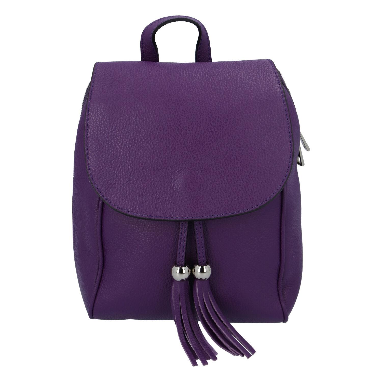 Dámský kožený batůžek tmavě fialový - ItalY Joseph