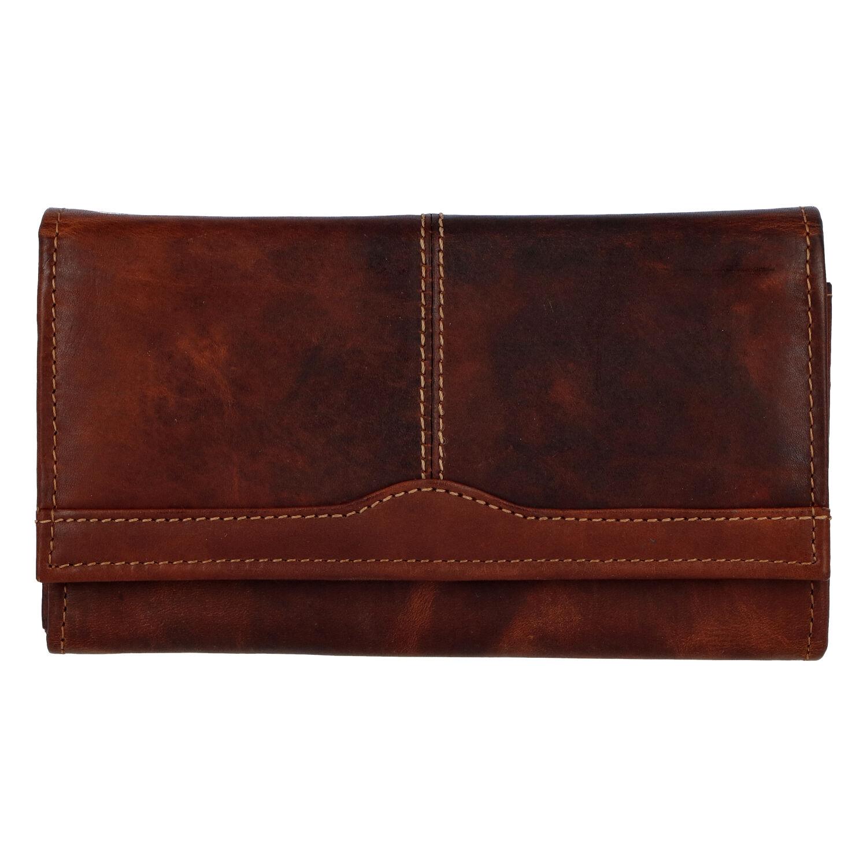 Dámská kožená peněženka hnědá - Tomas Salto