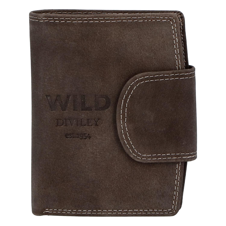 Pánská kožená peněženka tmavě hnědá - WILD Soul