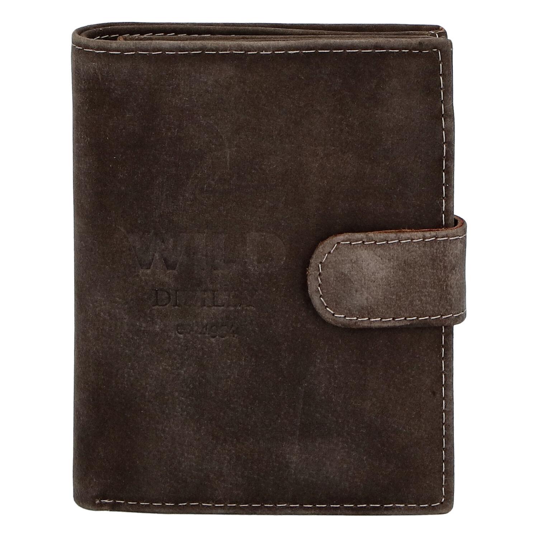 Pánská kožená peněženka tmavě hnědá - WILD Karachi