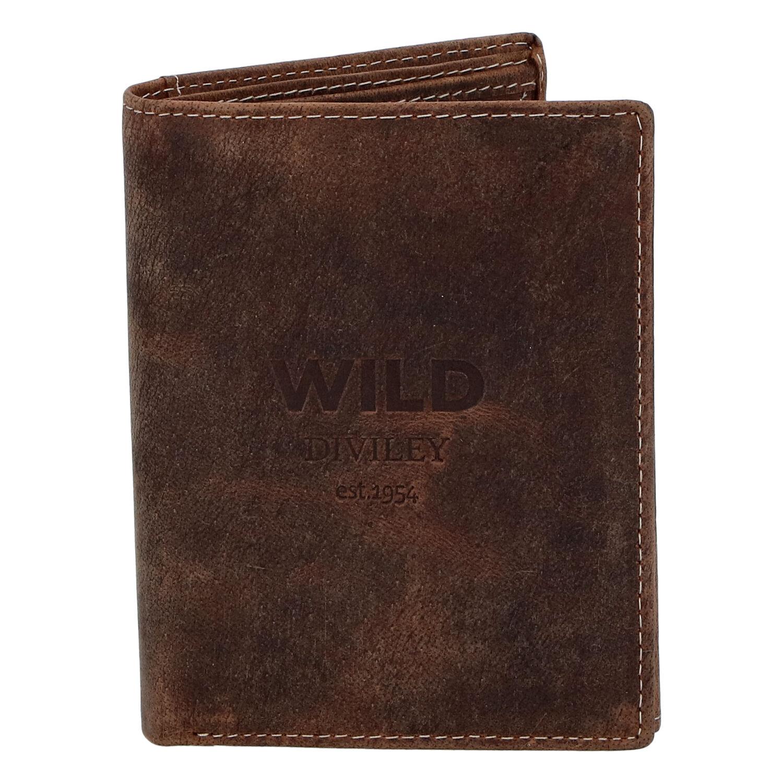 Pánská kožená peněženka hnědá - WILD Dilly
