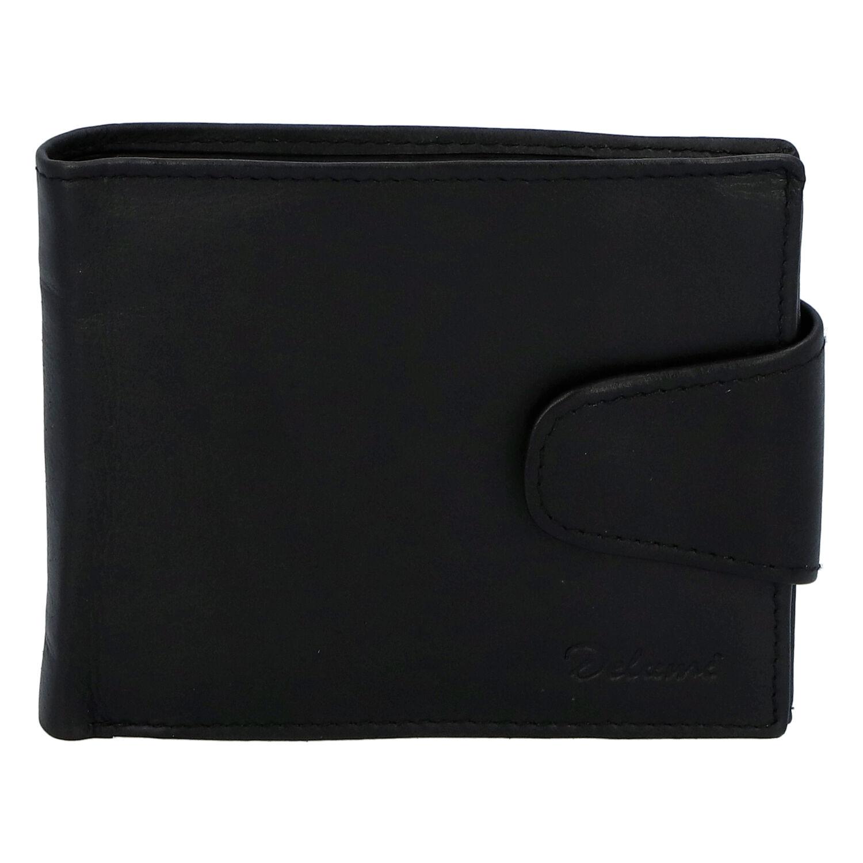 Pánská kožená peněženka černá - Delami 11816A