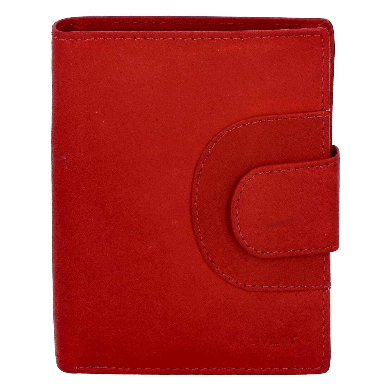 Pánská kožená prošívaná peněženka červená - Diviley Universe