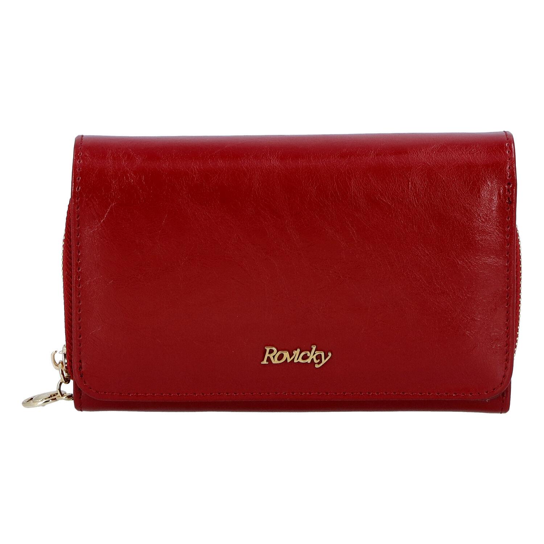Dámská kožená peněženka červená - Rovicky 8806