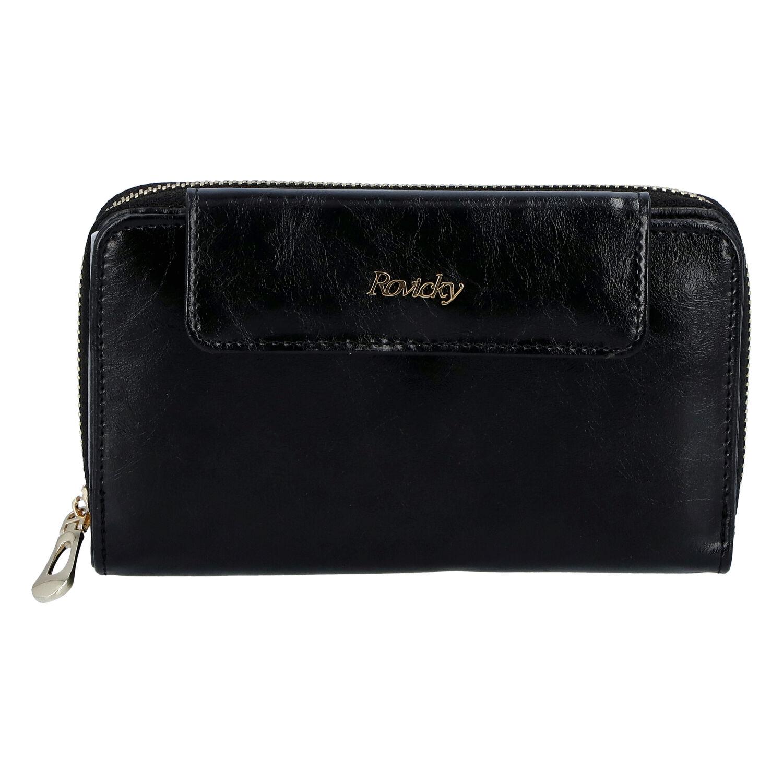 Dámská kožená peněženka černá - Rovicky 8808