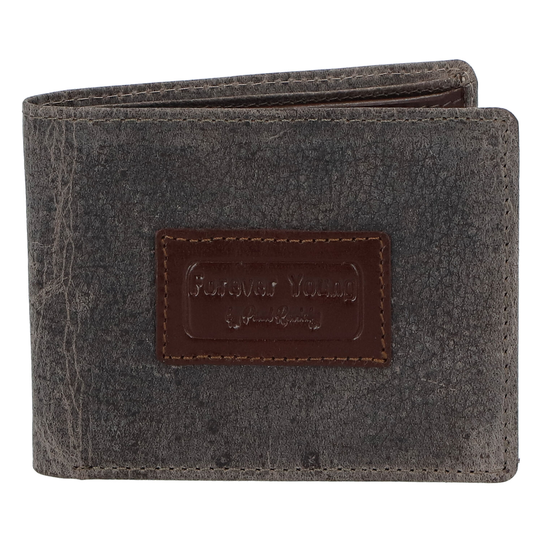 Pánská kožená peněženka šedá - Rovicky Kolos