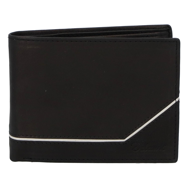 Pánská kožená peněženka černá - Delami Seum