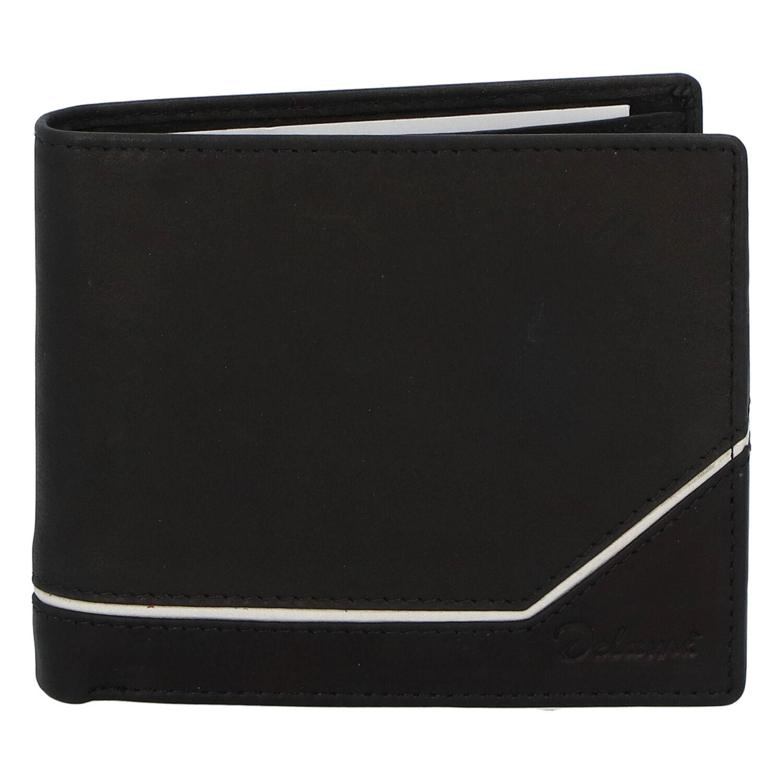 Pánská kožená peněženka černá - Delami Tirasen