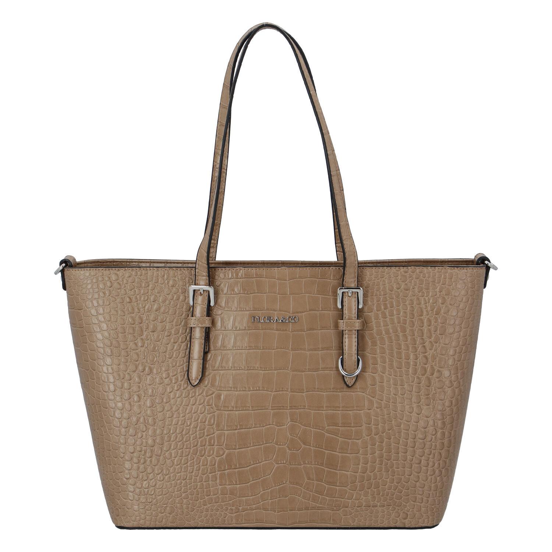 Dámská kabelka přes rameno taupe - FLORA&CO Dianna Kroko