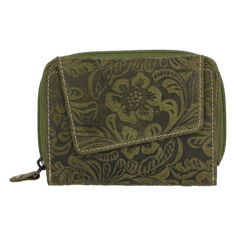 Dámská kožená peněženka zelená - Tomas Pierluigi