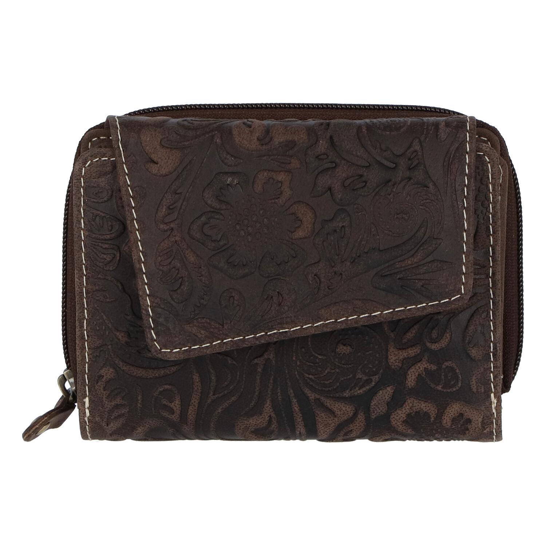 Dámská kožená peněženka tmavě hnědá - Tomas Pierluigi