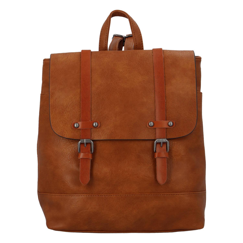 Dámský módní městský batoh světle hnědý - FLORA&CO Dilema
