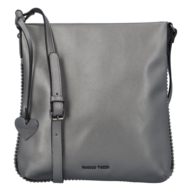 Dámská módní crossbody kabelka stříbrná - Marco Tozzi Coco