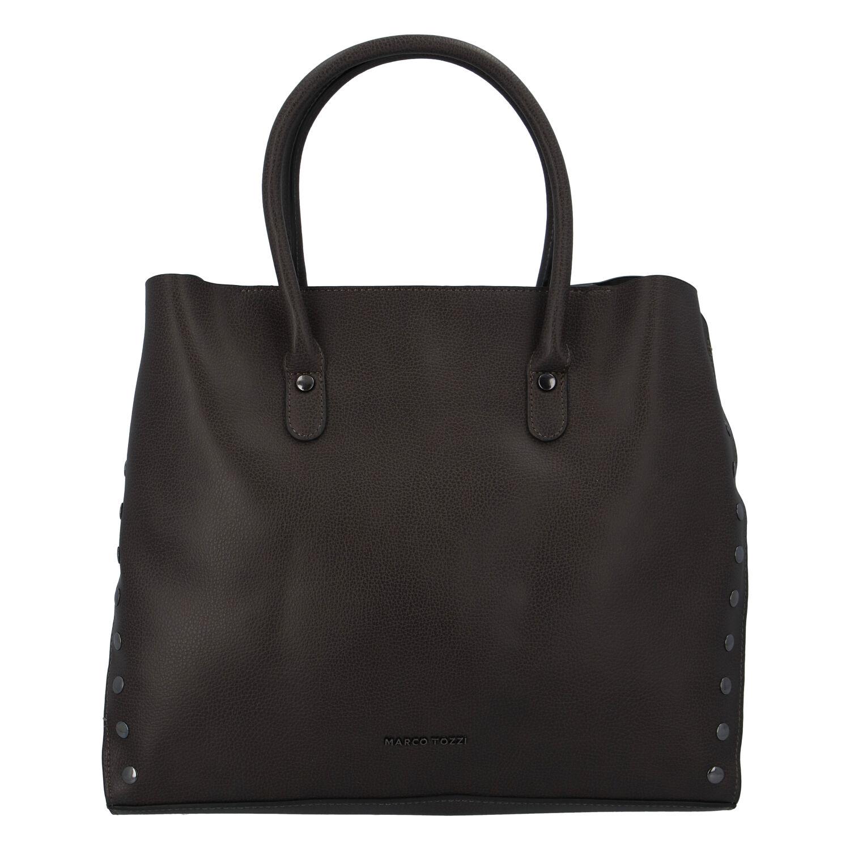 Dámská luxusní módní kabelka taupe - Marco Tozzi Diamond
