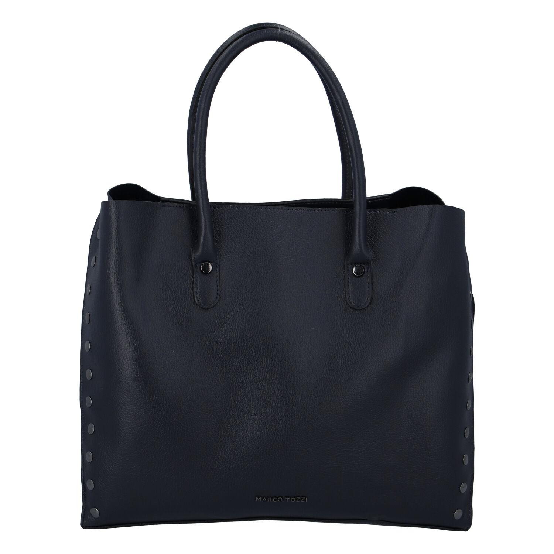Dámská luxusní módní kabelka tmavě modrá - Marco Tozzi Diamond