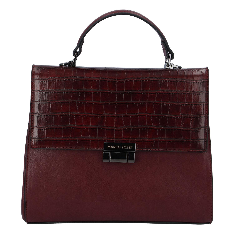 Luxusní dámská módní kabelka bordo - Marco Tozzi Clas