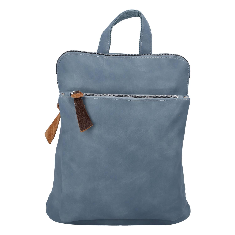 Dámský městský batoh kabelka bledě modrý - Paolo Bags Buginni