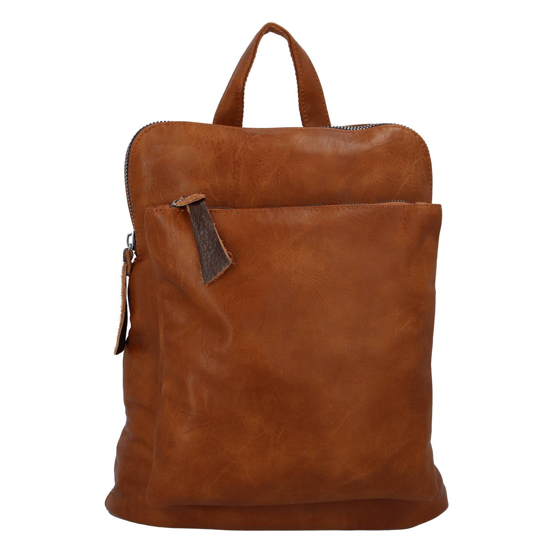Dámský městský batoh kabelka hnědý - Paolo Bags Buginni