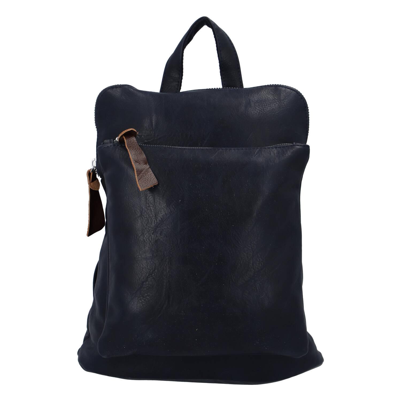 Dámský městský batoh kabelka tmavě modrý - Paolo Bags Buginni