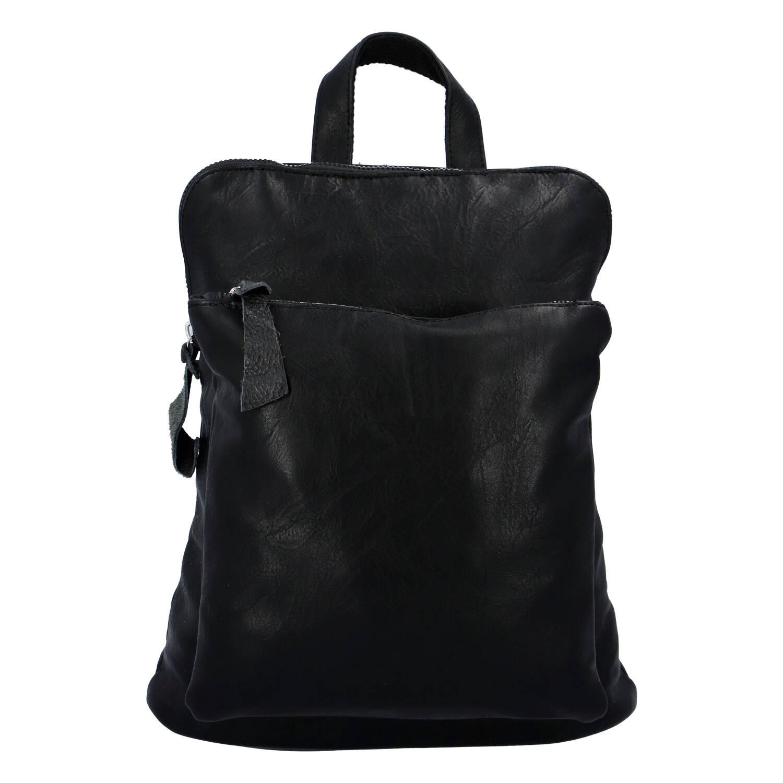 Dámský městský batoh kabelka černý - Paolo Bags Buginni