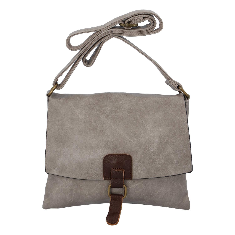 Dámská crossbody kabelka pískově šedá - Paolo Bags Jostein