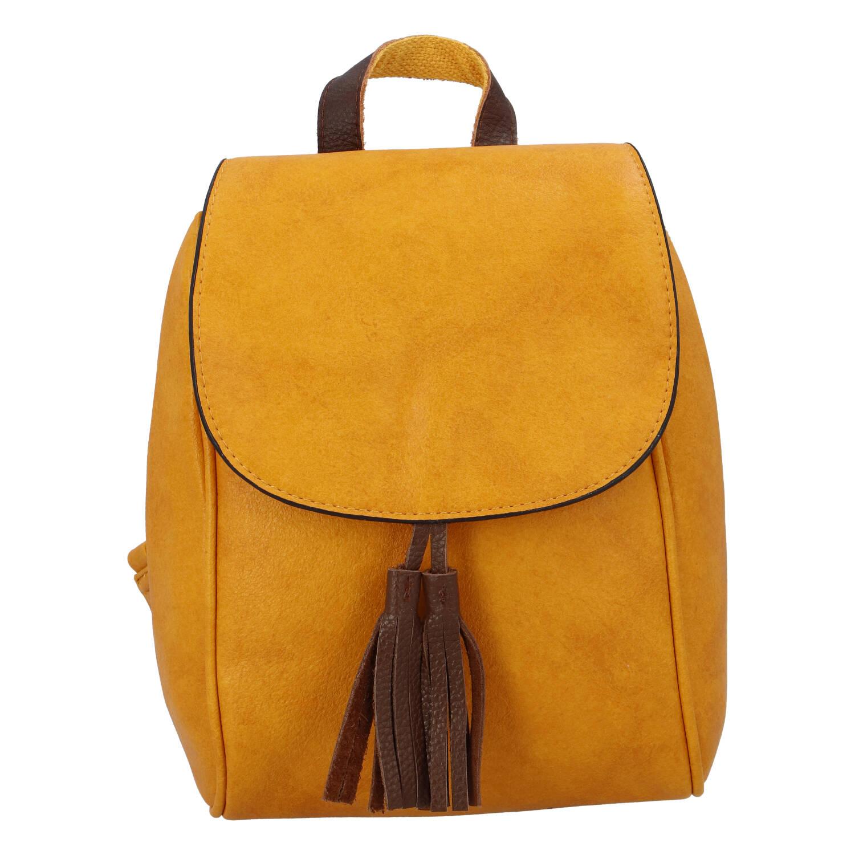 Dámský městský batoh žlutý - Paolo Bags Doseph