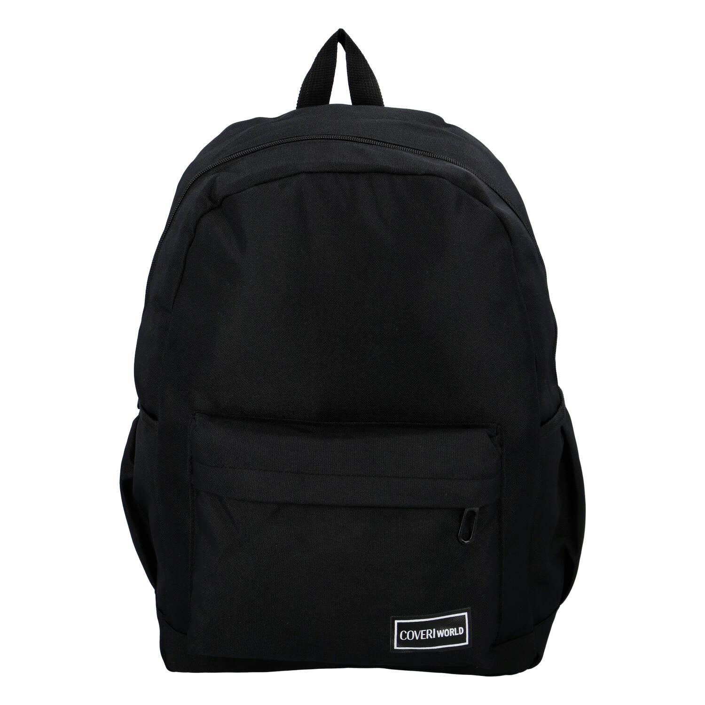 Praktický látkový batoh černý - Coveri Kane