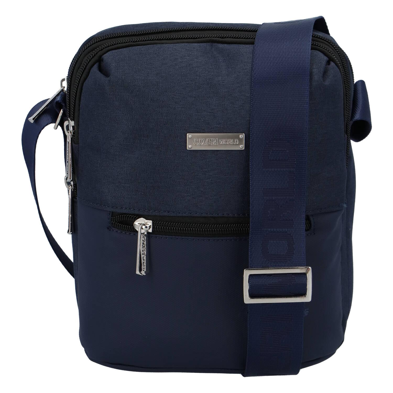 Moderní pánská taška na doklady tmavě modrá - Coveri Liam