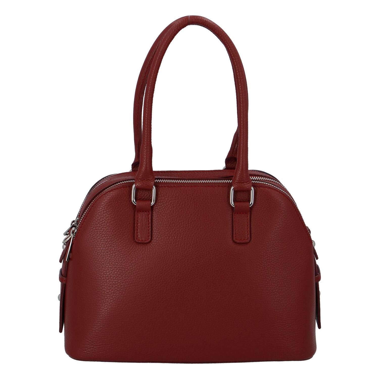 Módní dámská kožená kabelka červená - ItalY Salva