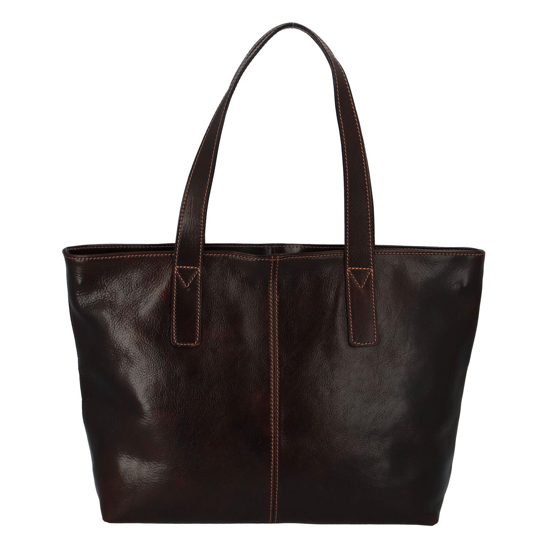 Módní dámská kožená kabelka hnědá - ItalY Rich