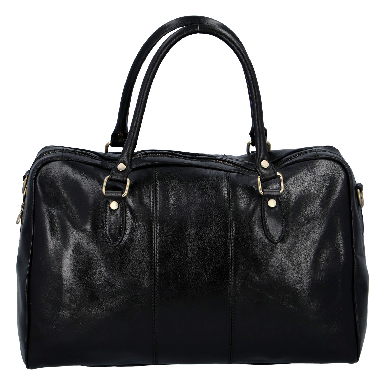 Cestovní kožená taška černá - ItalY Homer