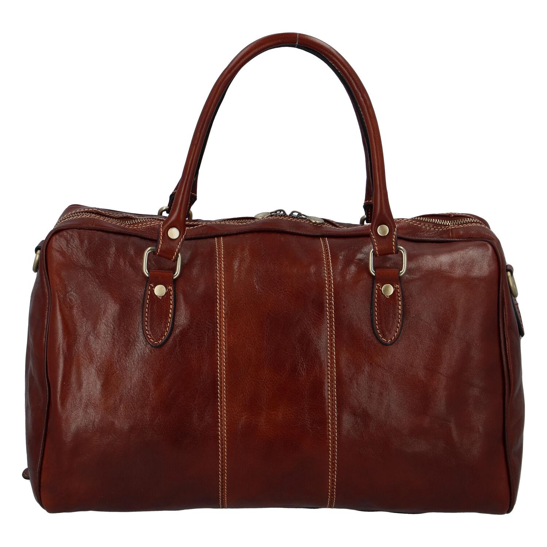 Cestovní kožená taška hnědá - ItalY Homer